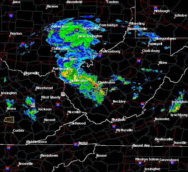 Radar Image for Severe Thunderstorms near East Bank, WV at 7/10/2015 4:13 PM EDT