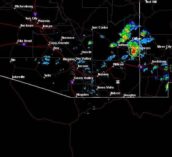 Radar Image for Severe Thunderstorms near Duncan, AZ at 7/10/2015 2:41 PM MST
