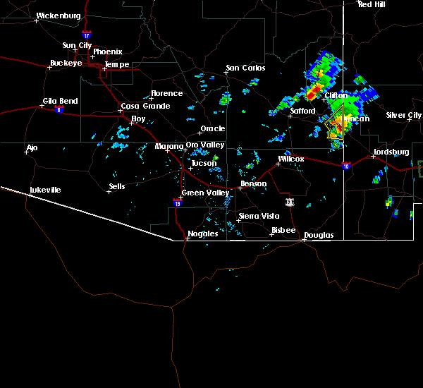 Radar Image for Severe Thunderstorms near Duncan, AZ at 7/10/2015 2:56 PM MST