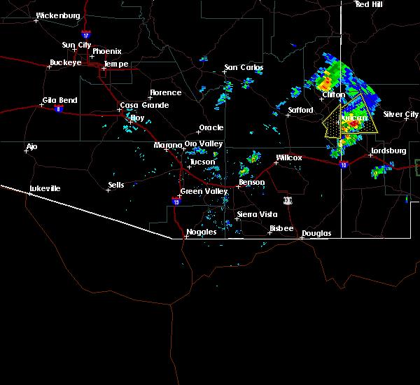 Radar Image for Severe Thunderstorms near Duncan, AZ at 7/10/2015 3:24 PM MST