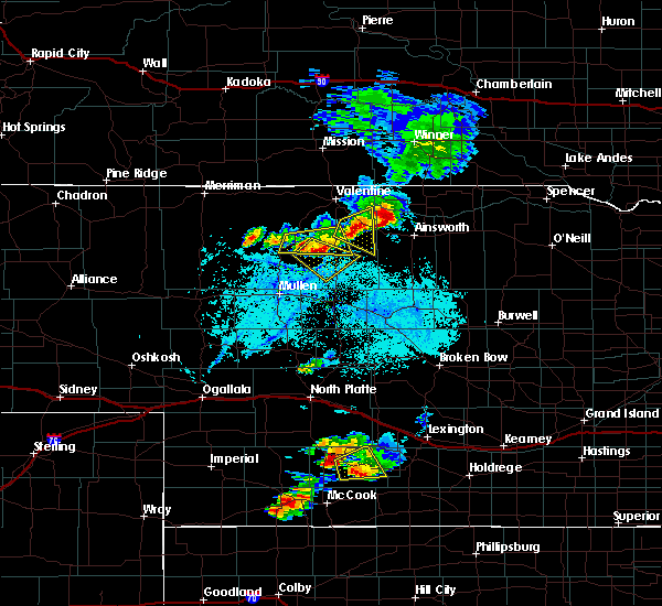 Radar Image for Severe Thunderstorms near Brownlee, NE at 7/10/2015 8:04 PM CDT