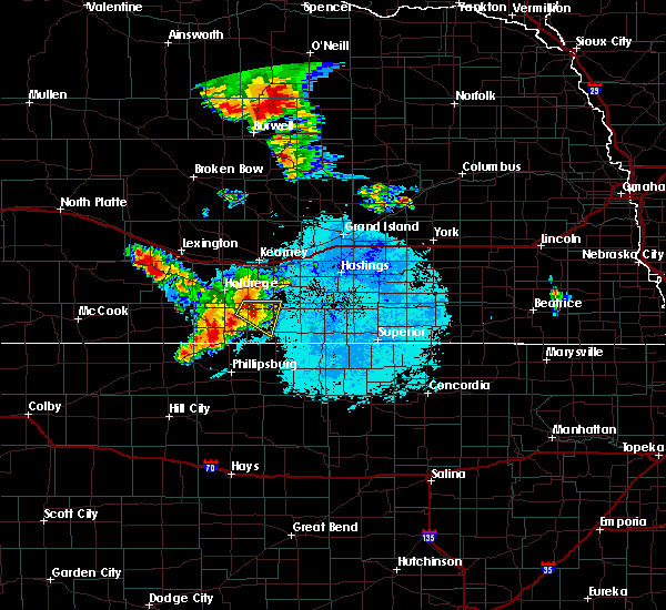 Radar Image for Severe Thunderstorms near Franklin, NE at 7/11/2015 12:55 AM CDT