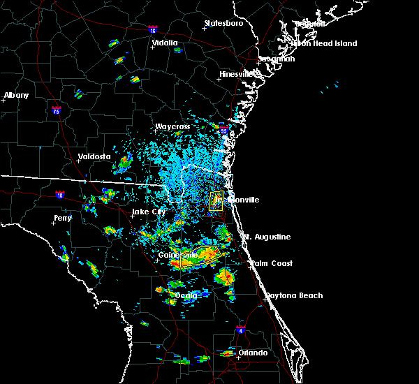 Radar Image for Severe Thunderstorms near Jacksonville, FL at 7/11/2015 4:14 PM EDT