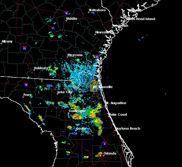 Radar Image for Severe Thunderstorms near Jacksonville, FL at 7/11/2015 4:31 PM EDT