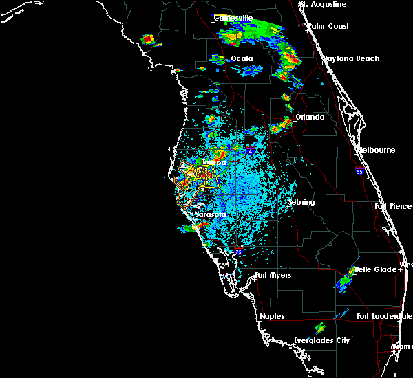 Radar Image for Severe Thunderstorms near Tampa, FL at 7/11/2015 4:53 PM EDT