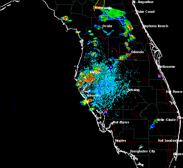 Radar Image for Severe Thunderstorms near Riverview, FL at 7/11/2015 5:04 PM EDT