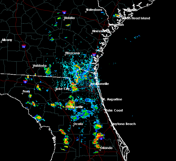 Radar Image for Severe Thunderstorms near Gainesville, FL at 7/11/2015 5:17 PM EDT