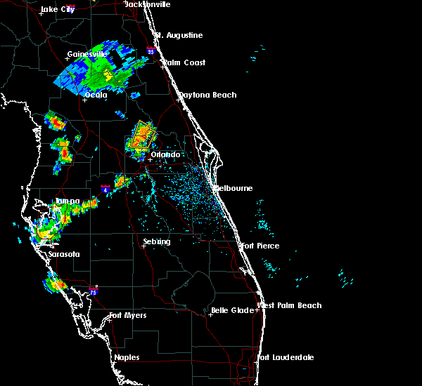 Radar Image for Severe Thunderstorms near Wekiwa Springs, FL at 7/11/2015 5:51 PM EDT