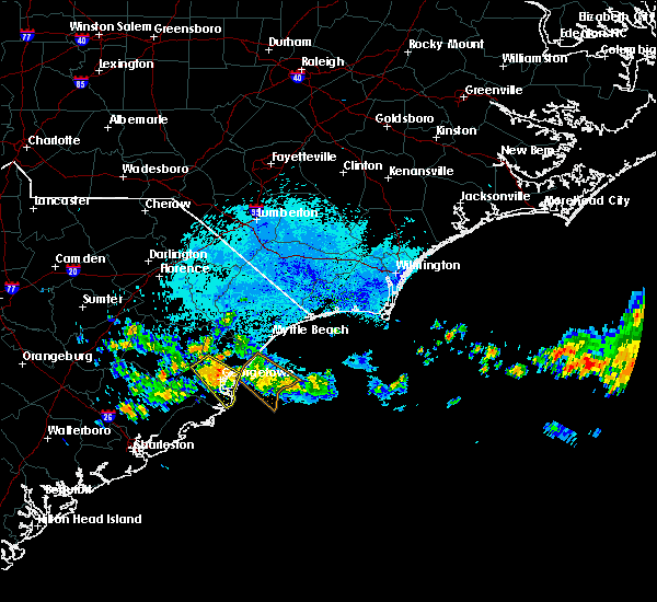 Radar Image for Severe Thunderstorms near Pawleys Island, SC at 7/11/2015 10:13 PM EDT