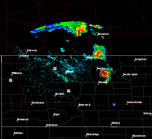 Radar Image for Severe Thunderstorms near Knox, ND at 7/11/2015 10:13 PM CDT