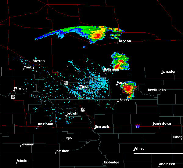 Radar Image for Severe Thunderstorms near Knox, ND at 7/11/2015 10:26 PM CDT
