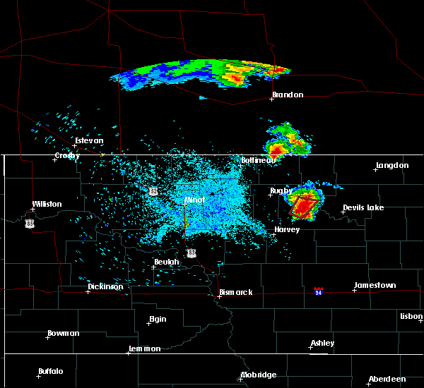 Radar Image for Severe Thunderstorms near Leeds, ND at 7/11/2015 10:52 PM CDT