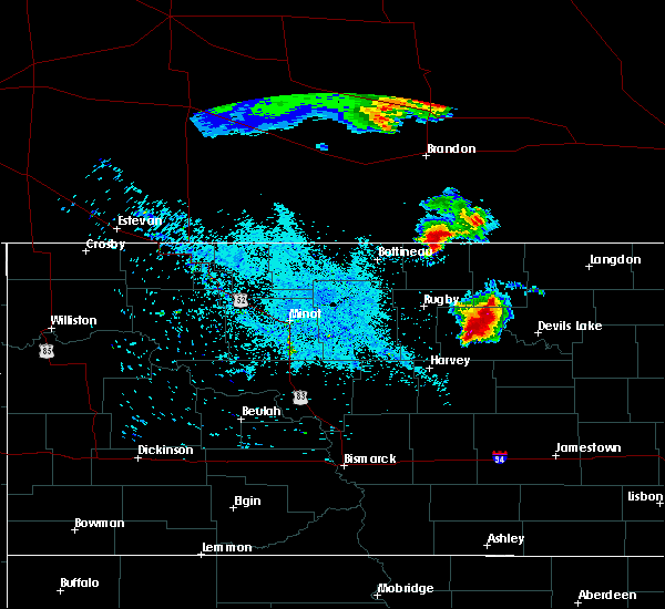 Radar Image for Severe Thunderstorms near Churchs Ferry, ND at 7/11/2015 11:04 PM CDT