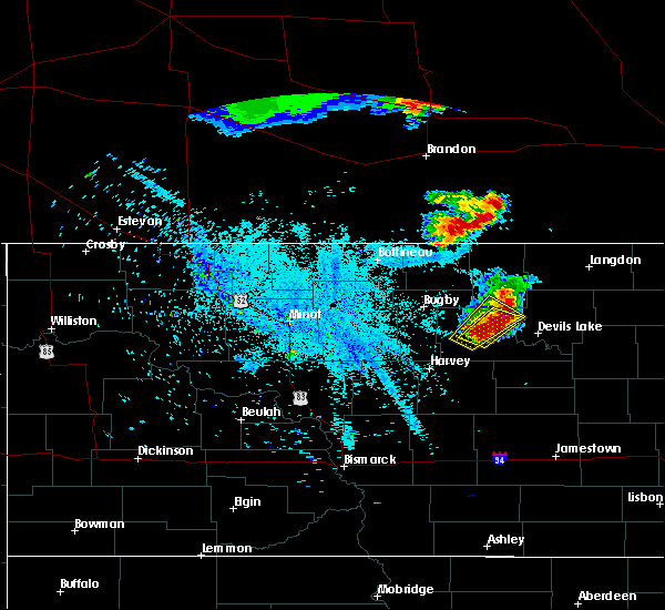 Radar Image for Severe Thunderstorms near Minnewaukan, ND at 7/11/2015 11:27 PM CDT