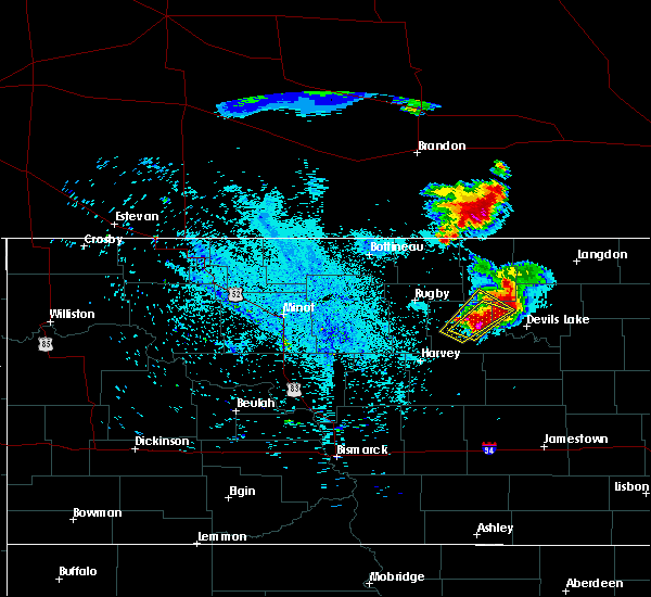 Radar Image for Severe Thunderstorms near Brinsmade, ND at 7/11/2015 11:54 PM CDT