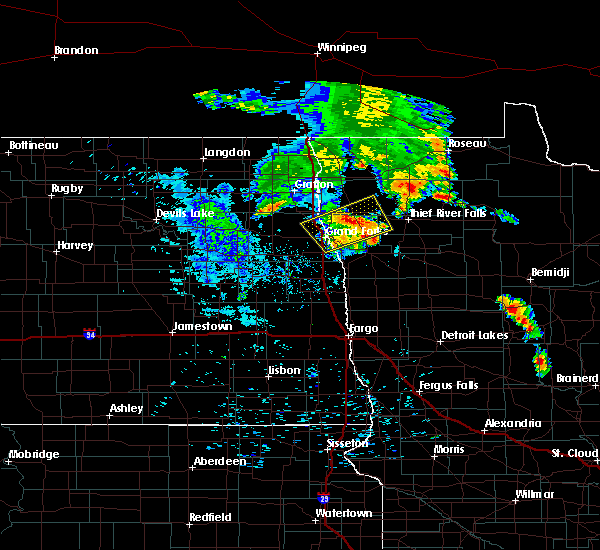 Radar Image for Severe Thunderstorms near Alvarado, MN at 7/12/2015 5:18 AM CDT
