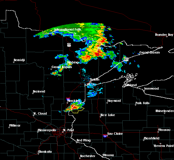 Radar Image for Severe Thunderstorms near Grantsburg, WI at 7/12/2015 11:32 AM CDT
