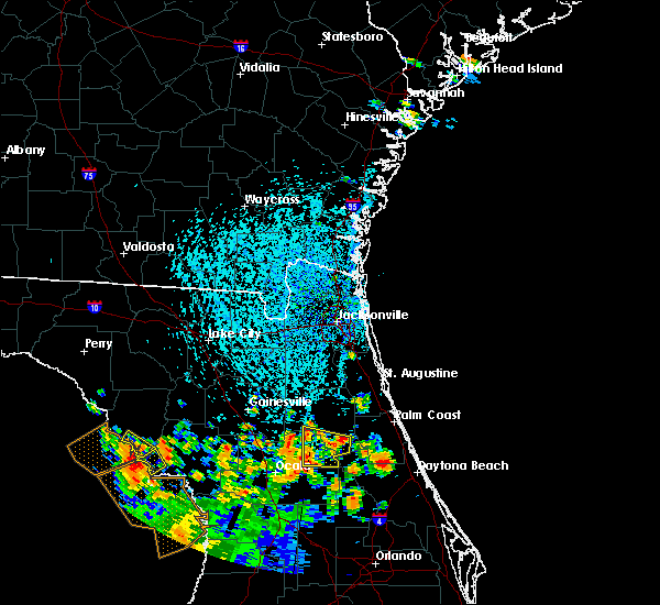 Radar Image for Severe Thunderstorms near Welaka, FL at 7/12/2015 3:30 PM EDT