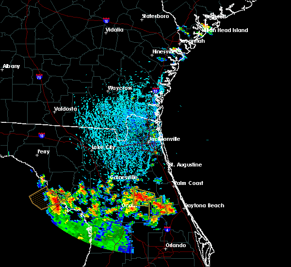 Radar Image for Severe Thunderstorms near Pierson, FL at 7/12/2015 3:46 PM EDT
