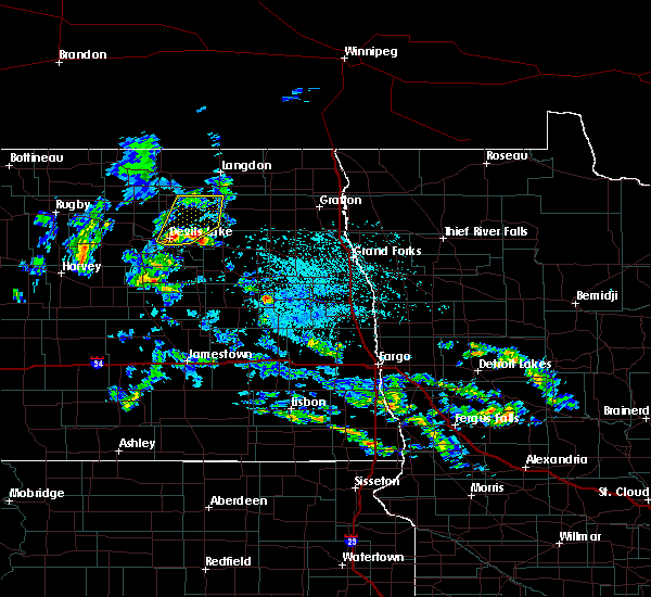 Radar Image for Severe Thunderstorms near Devils Lake, ND at 7/12/2015 3:09 PM CDT
