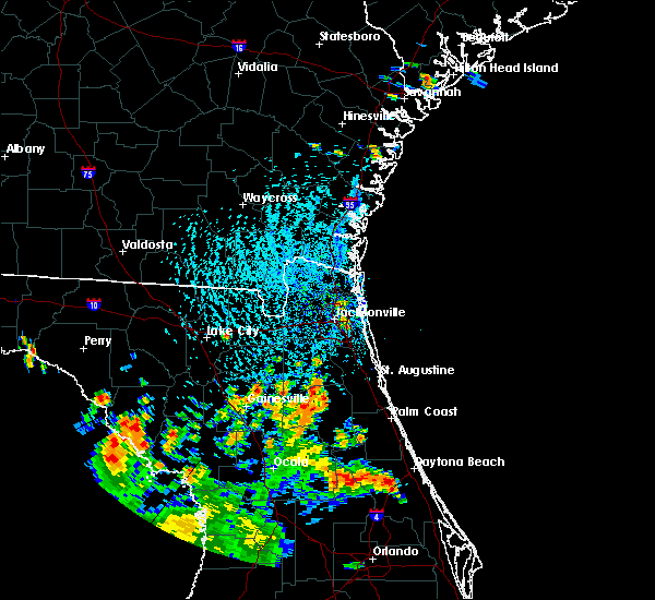 Radar Image for Severe Thunderstorms near Pierson, FL at 7/12/2015 4:29 PM EDT