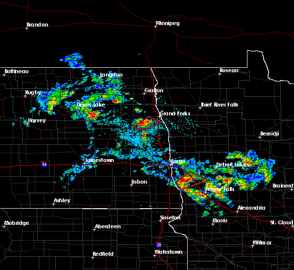 Radar Image for Severe Thunderstorms near Pelican Rapids, MN at 7/12/2015 3:56 PM CDT
