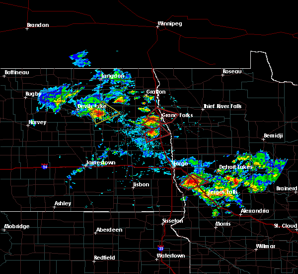 Radar Image for Severe Thunderstorms near Pelican Rapids, MN at 7/12/2015 4:12 PM CDT
