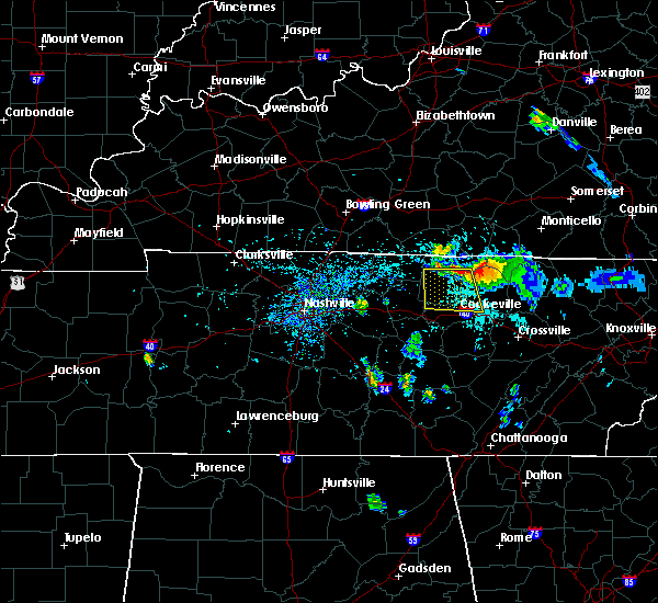 Radar Image for Severe Thunderstorms near Cookeville, TN at 7/12/2015 4:27 PM CDT
