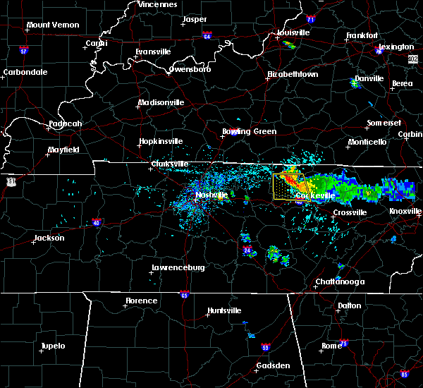 Radar Image for Severe Thunderstorms near Cookeville, TN at 7/12/2015 4:45 PM CDT
