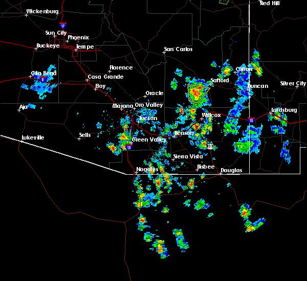 Radar Image for Severe Thunderstorms near Tucson, AZ at 7/12/2015 2:57 PM MST