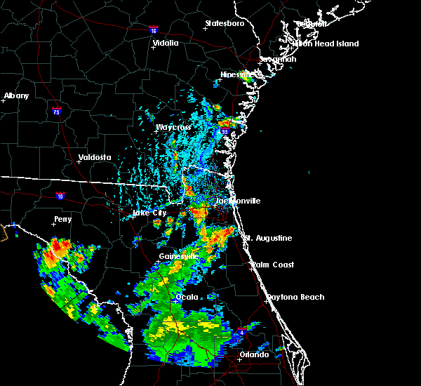 Radar Image for Severe Thunderstorms near World Golf Village, FL at 7/12/2015 6:03 PM EDT