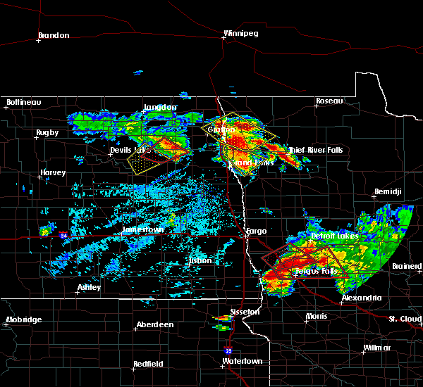 Radar Image for Severe Thunderstorms near Foxhome, MN at 7/12/2015 5:03 PM CDT