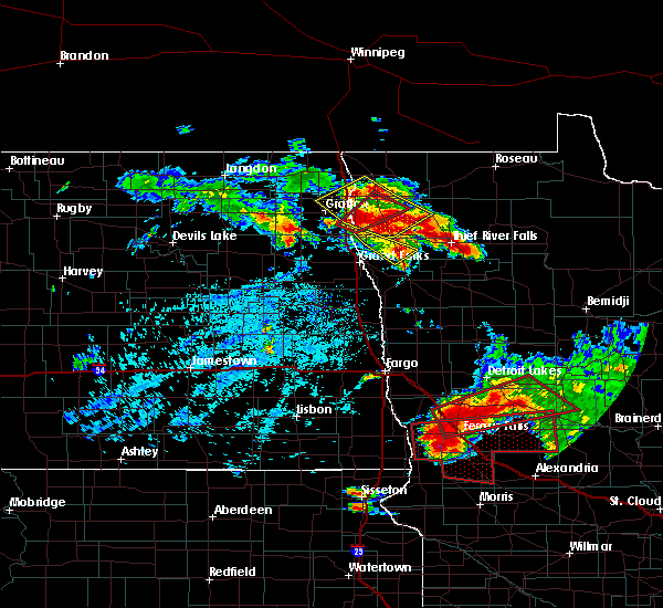 Radar Image for Severe Thunderstorms near Perham, MN at 7/12/2015 5:22 PM CDT