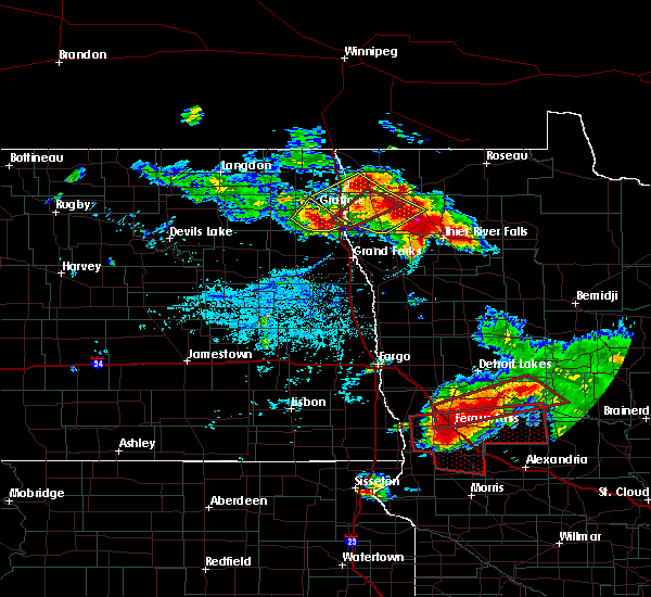 Radar Image for Severe Thunderstorms near Foxhome, MN at 7/12/2015 5:40 PM CDT