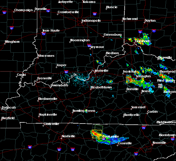 Radar Image for Severe Thunderstorms near Versailles, KY at 7/12/2015 6:43 PM EDT
