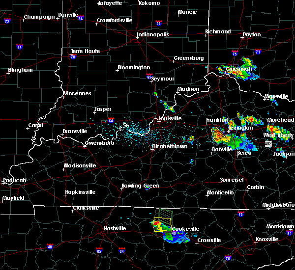 Radar Image for Severe Thunderstorms near Nicholasville, KY at 7/12/2015 6:57 PM EDT