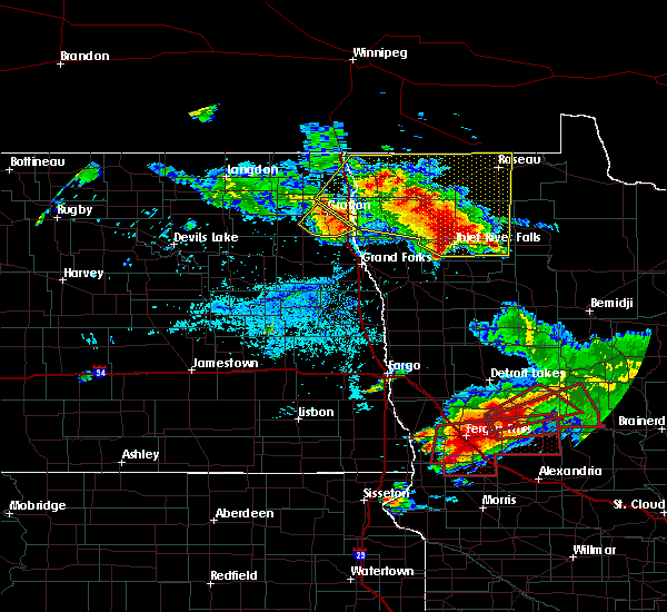 Radar Image for Severe Thunderstorms near Nashua, MN at 7/12/2015 5:56 PM CDT