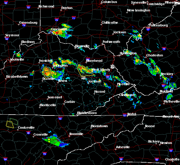Radar Image for Severe Thunderstorms near Frenchburg, KY at 7/12/2015 7:10 PM EDT