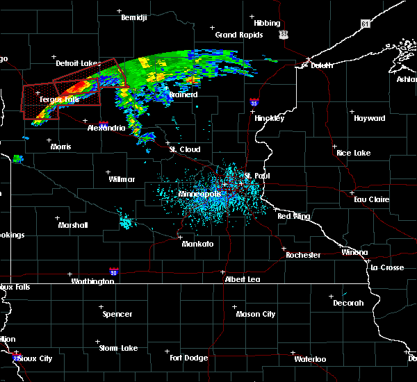 Radar Image for Severe Thunderstorms near Staples, MN at 7/12/2015 6:09 PM CDT