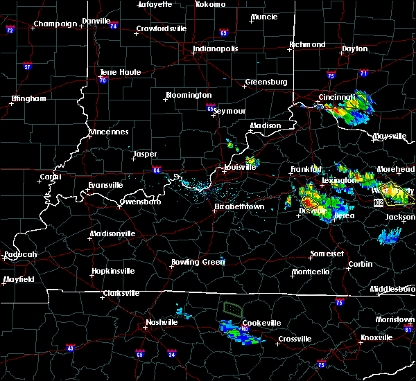 Radar Image for Severe Thunderstorms near Nicholasville, KY at 7/12/2015 7:27 PM EDT