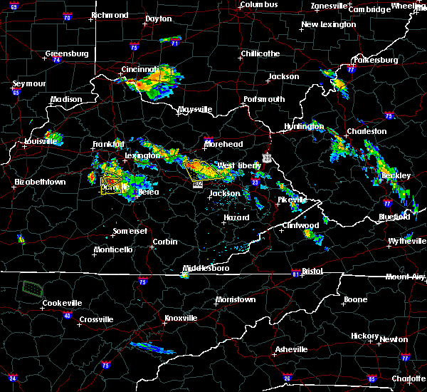 Radar Image for Severe Thunderstorms near Danville, KY at 7/12/2015 7:34 PM EDT