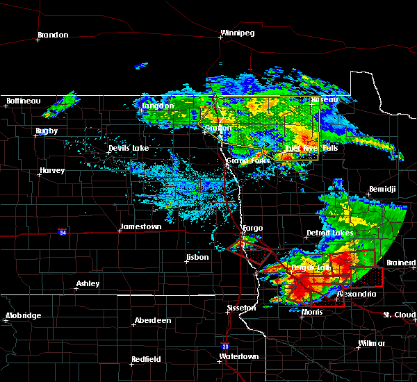 Radar Image for Severe Thunderstorms near Barrett, MN at 7/12/2015 6:34 PM CDT