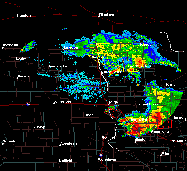 Radar Image for Severe Thunderstorms near Holt, MN at 7/12/2015 6:43 PM CDT