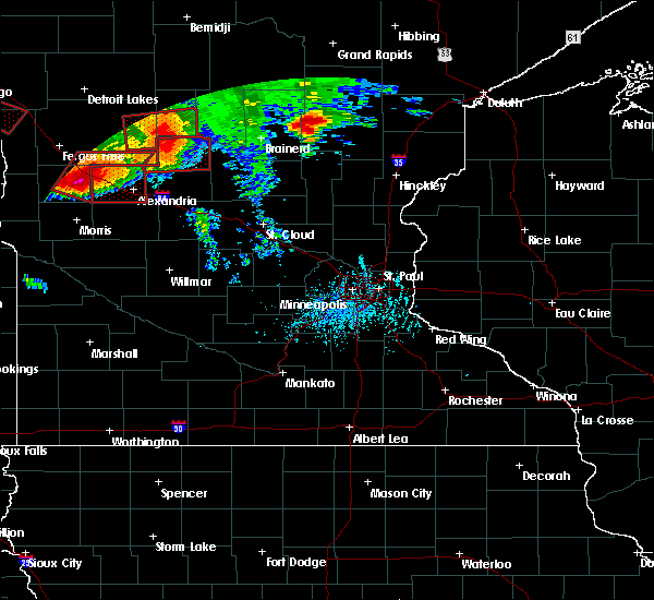 Radar Image for Severe Thunderstorms near Barrett, MN at 7/12/2015 6:50 PM CDT