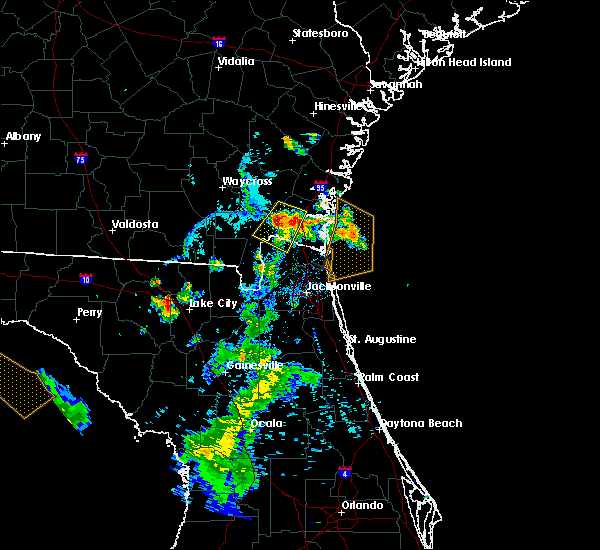 Radar Image for Severe Thunderstorms near Kingsland, GA at 7/12/2015 7:52 PM EDT