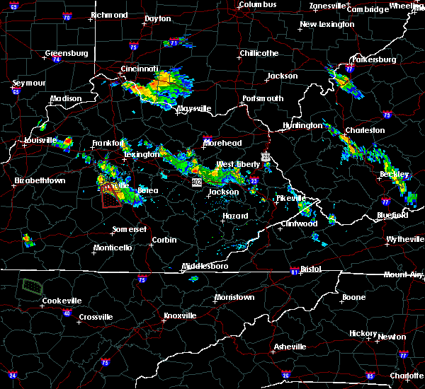 Radar Image for Severe Thunderstorms near Lancaster, KY at 7/12/2015 7:53 PM EDT
