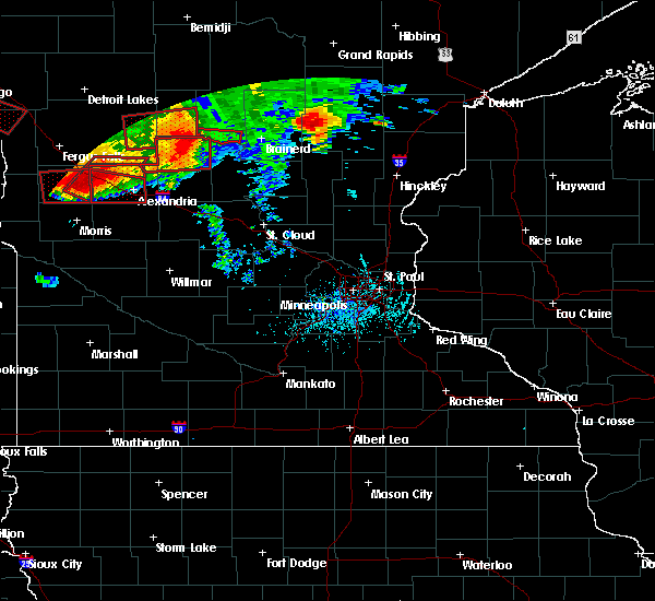 Radar Image for Severe Thunderstorms near Forada, MN at 7/12/2015 7:01 PM CDT
