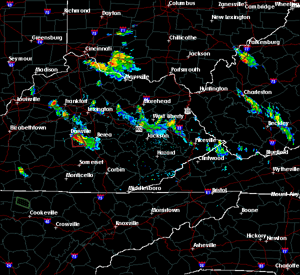 Radar Image for Severe Thunderstorms near Lancaster, KY at 7/12/2015 8:10 PM EDT