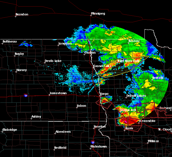 Radar Image for Severe Thunderstorms near Fisher, MN at 7/12/2015 7:16 PM CDT