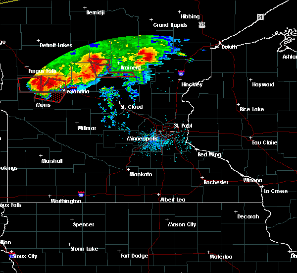 Radar Image for Severe Thunderstorms near Swanville, MN at 7/12/2015 7:21 PM CDT